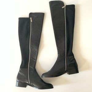 Michael Kors over the knee high leather boots 5.5